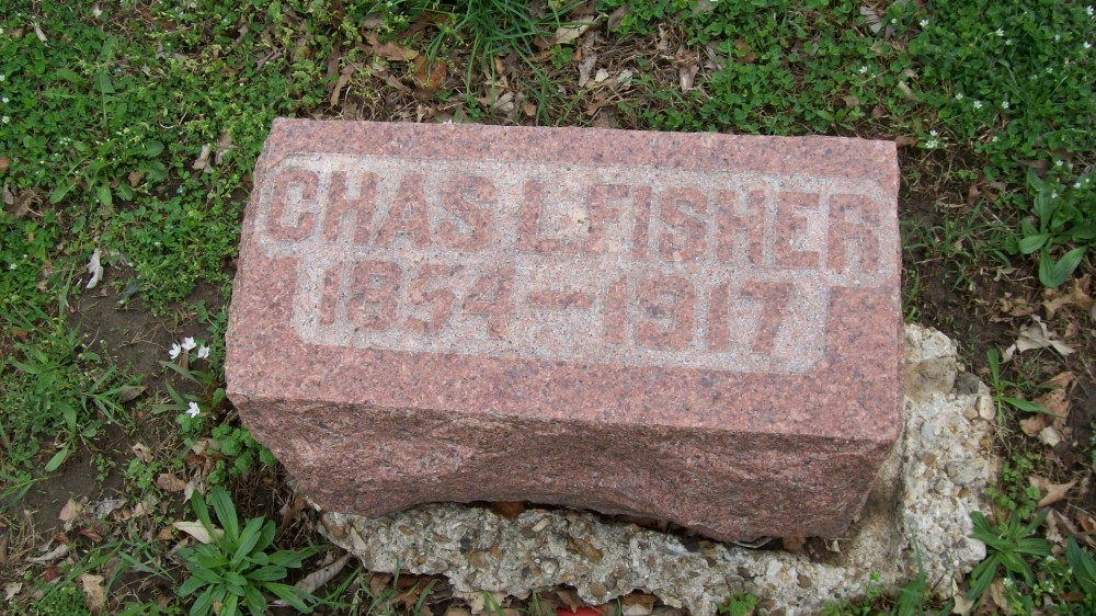 Charles I. Fisher Headstone Photo, Hillcrest Cemetery, Callaway County genealogy