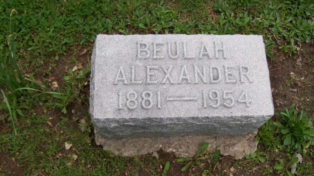 Beulah Wise Alexander Headstone Photo, Hillcrest Cemetery, Callaway County genealogy