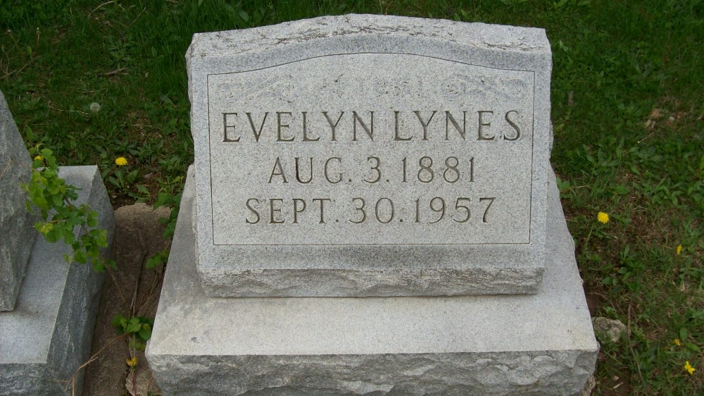 Evelyn Lynes Headstone Photo, Hillcrest Cemetery, Callaway County genealogy