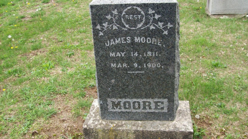 James Moore Headstone Photo, Hillcrest Cemetery, Callaway County genealogy