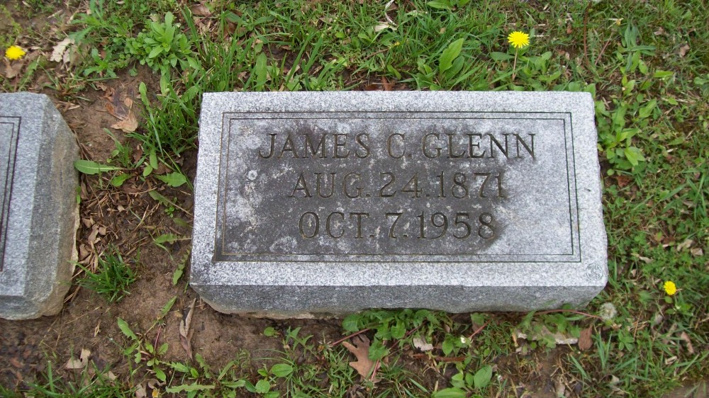 James Clymer Glenn Headstone Photo, Hillcrest Cemetery, Callaway County genealogy