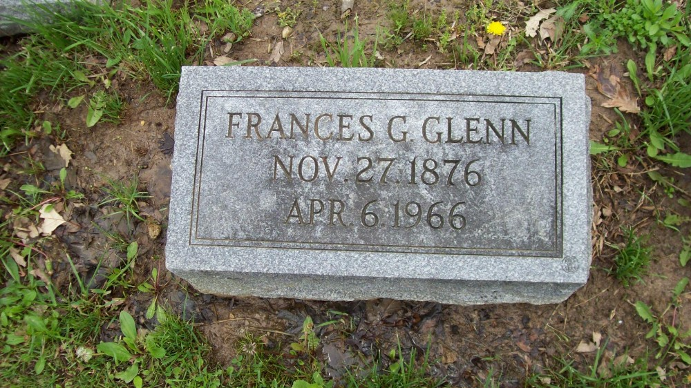 Frances G. Glenn Headstone Photo, Hillcrest Cemetery, Callaway County genealogy