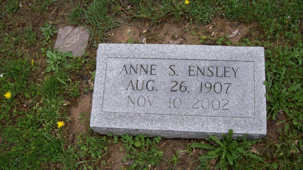 Anne E. Sitton Ensley Headstone Photo, Hillcrest Cemetery, Callaway County genealogy