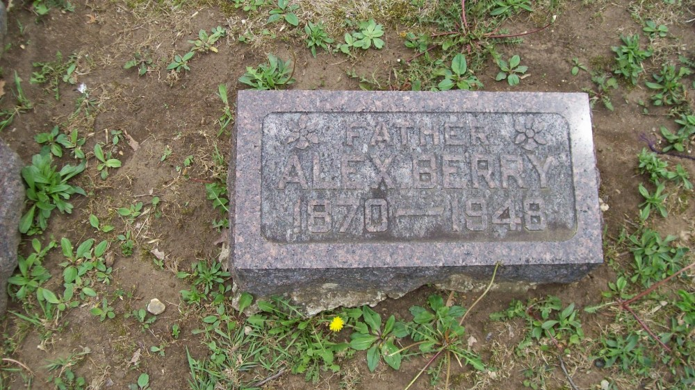 Alex Berry Headstone Photo, Hillcrest Cemetery, Callaway County genealogy
