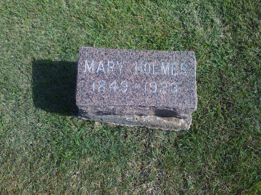 Mary Davis Holmes Headstone Photo, Hillcrest Cemetery, Callaway County genealogy