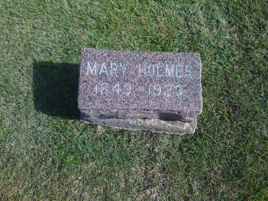Mary Davis Holmes Headstone Photo, Hillcrest Cemetery, Callaway County genealogy