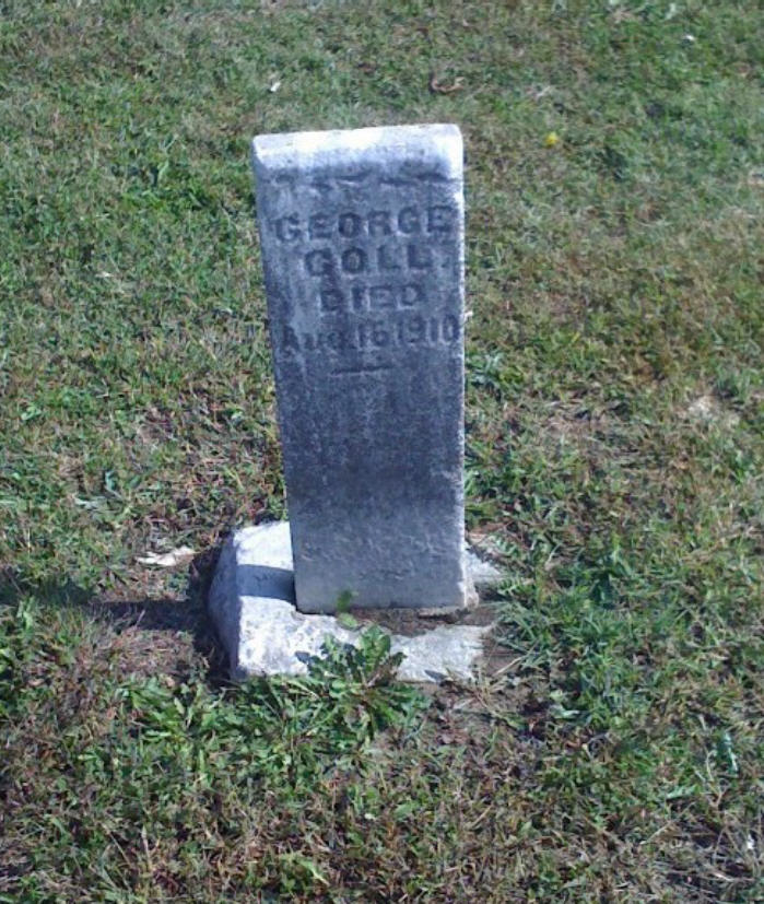 George Goll Headstone Photo, Hillcrest Cemetery, Callaway County genealogy