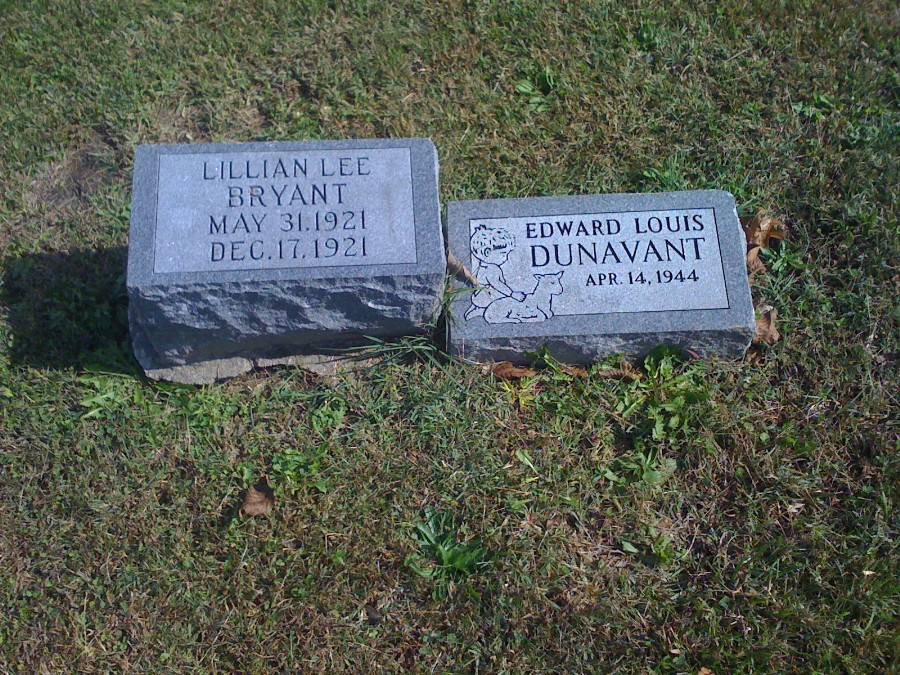 Edward Louis Dunavant Headstone Photo, Hillcrest Cemetery, Callaway County genealogy