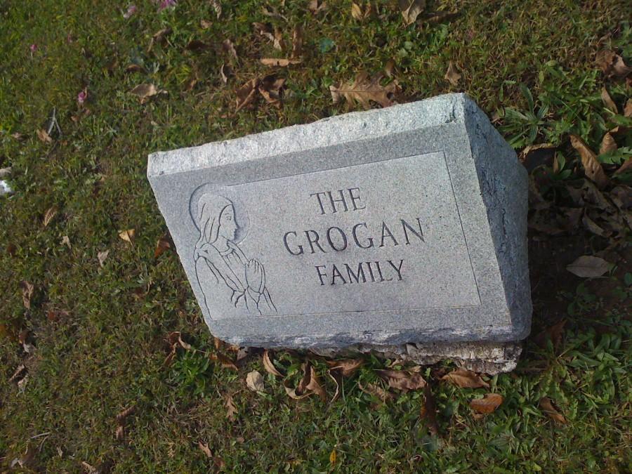 Grogan family Headstone Photo, Hillcrest Cemetery, Callaway County genealogy