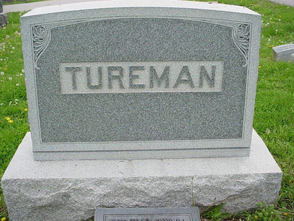 Joseph H. Tureman & Mona Lucas Headstone Photo, Hillcrest Cemetery, Callaway County genealogy