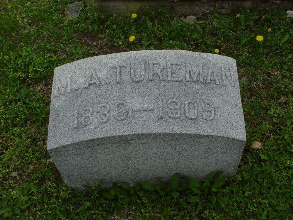 Margaret Ann Everhart Tureman Headstone Photo, Hillcrest Cemetery, Callaway County genealogy