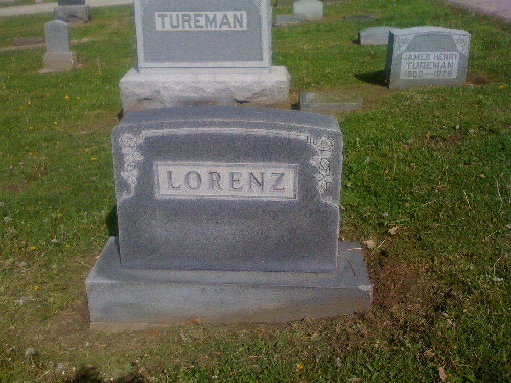 Lorenz family Headstone Photo, Hillcrest Cemetery, Callaway County genealogy