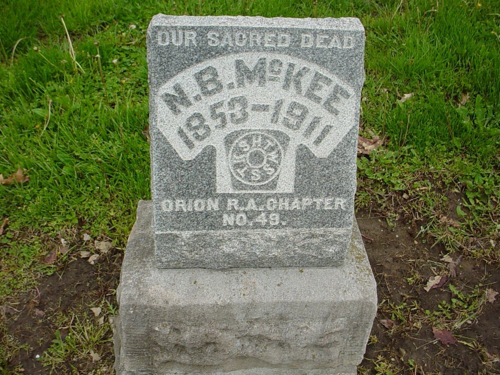 Noble Butler McKee Headstone Photo, Hillcrest Cemetery, Callaway County genealogy