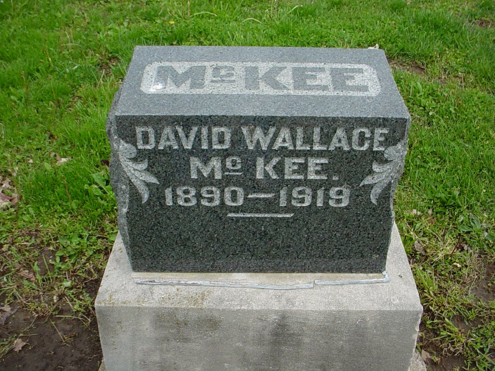 David Wallace McKee Headstone Photo, Hillcrest Cemetery, Callaway County genealogy