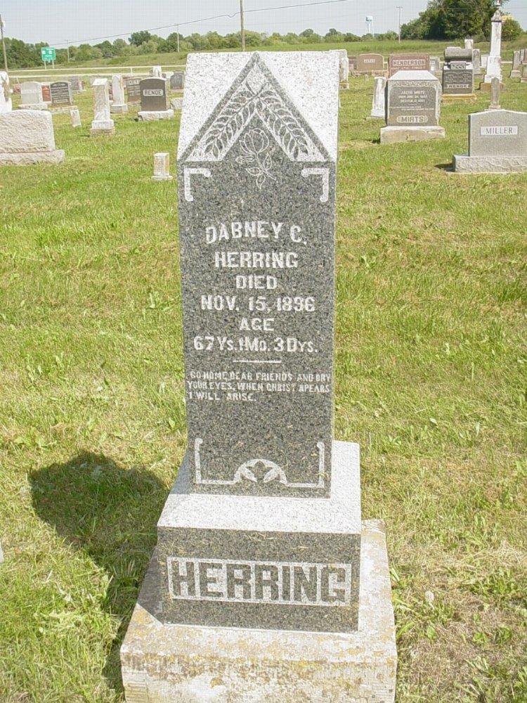 Dabney C. Herring Headstone Photo, Mount Carmel Cemetery, Callaway County genealogy