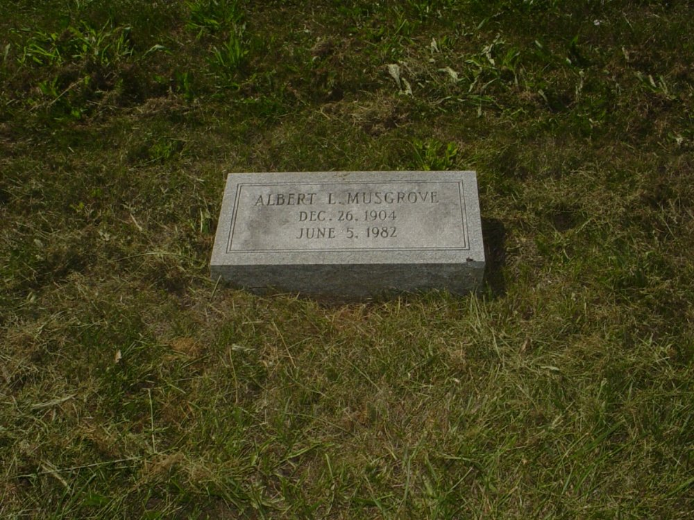 Albert L. Musgrove Headstone Photo, Mount Carmel Cemetery, Callaway County genealogy