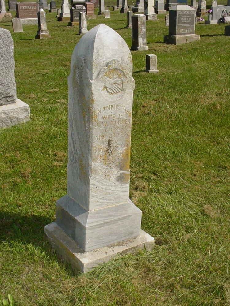 Nannie A. Herring Turner Headstone Photo, Mount Carmel Cemetery, Callaway County genealogy