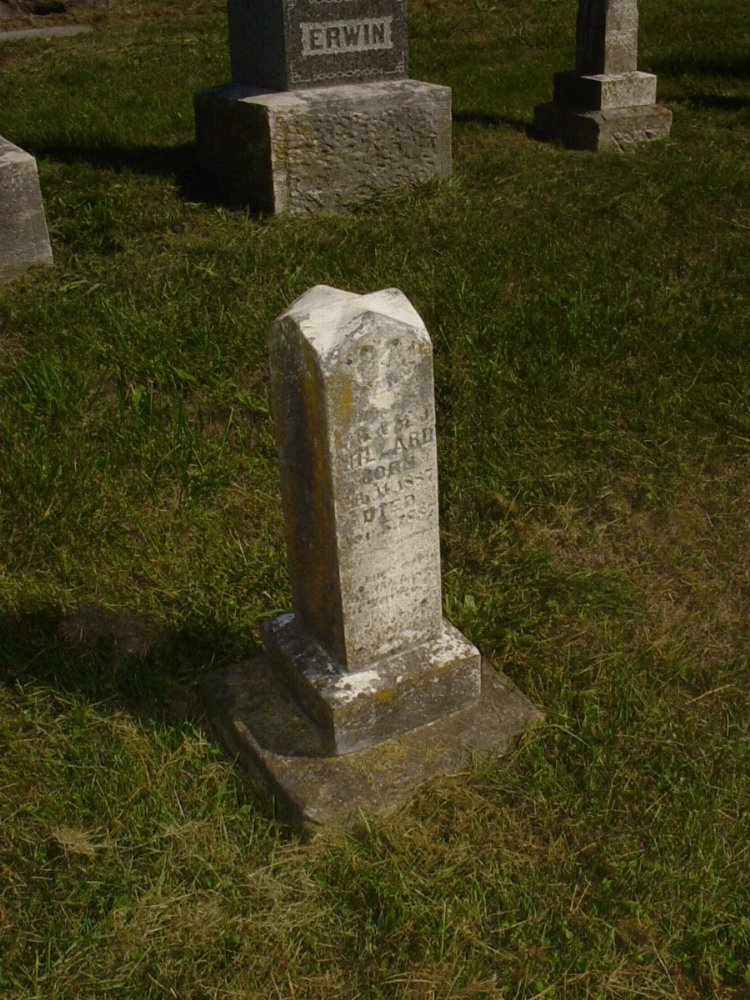 Laura Millard Headstone Photo, Mount Carmel Cemetery, Callaway County genealogy