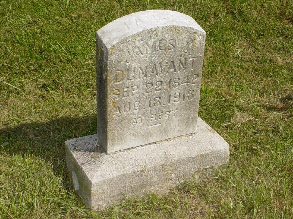 James L. Dunavant Headstone Photo, Mount Carmel Cemetery, Callaway County genealogy