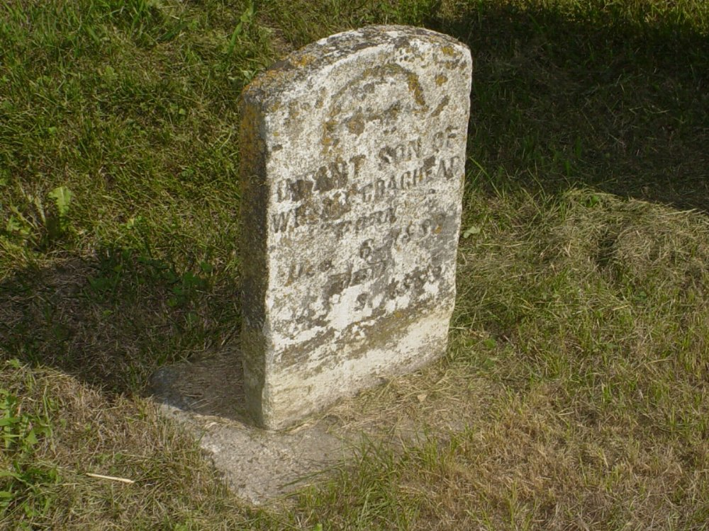 Infant Craghead Headstone Photo, Mount Carmel Cemetery, Callaway County genealogy