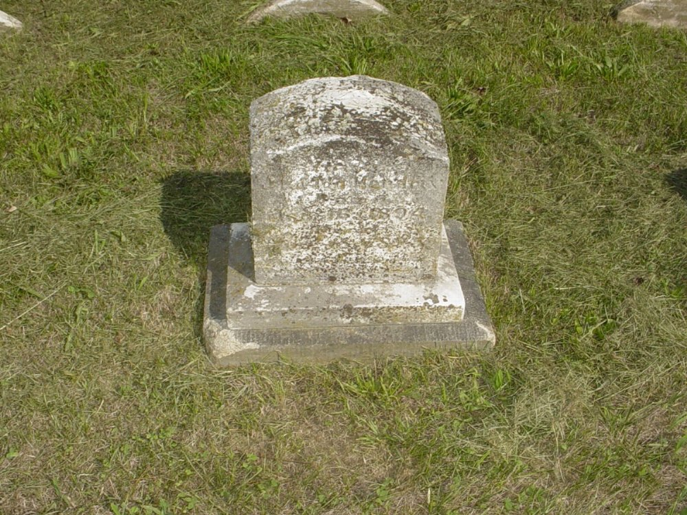 Infant Daughter Craghead 1895 Headstone Photo, Mount Carmel Cemetery, Callaway County genealogy