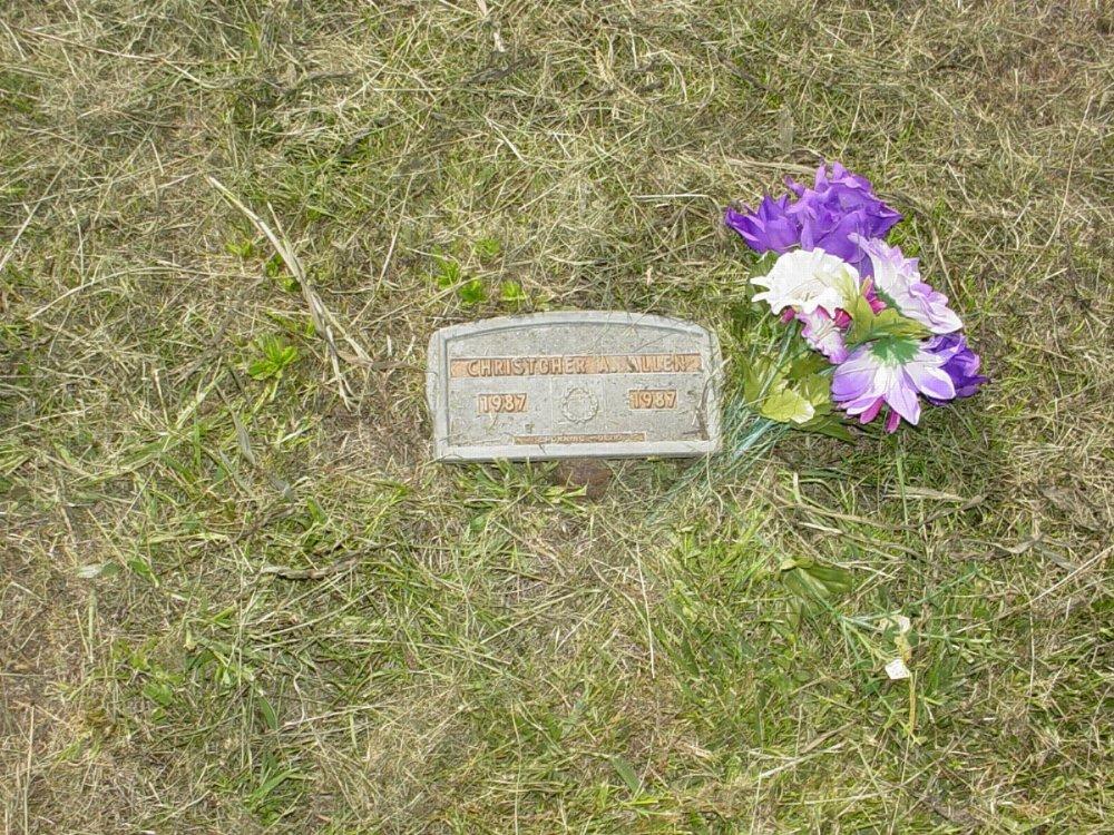 Christcher A. Allen Headstone Photo, Mount Carmel Cemetery, Callaway County genealogy
