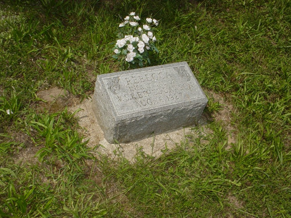 Rebecca Dawson Headstone Photo, Prairie Chapel Cemetery, Callaway County genealogy