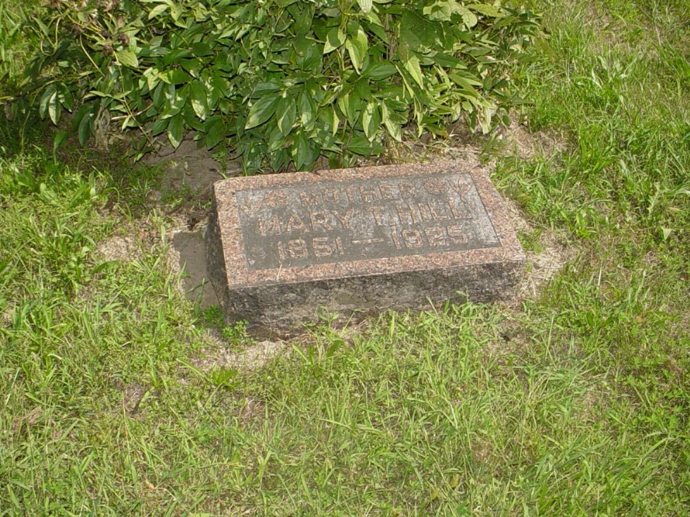 Mary T. Hill Headstone Photo, Prairie Chapel Cemetery, Callaway County genealogy