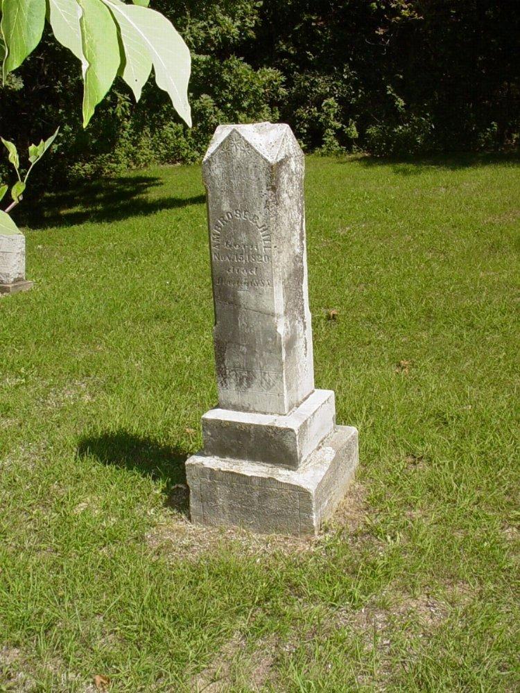 Ambrose B. Hill Sr. Headstone Photo, Prairie Chapel Cemetery, Callaway County genealogy