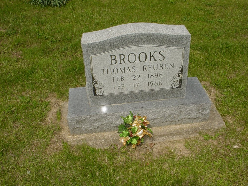 Thomas Reuben Brooks Headstone Photo, White Cloud Presbyterian Church Cemetery, Callaway County genealogy