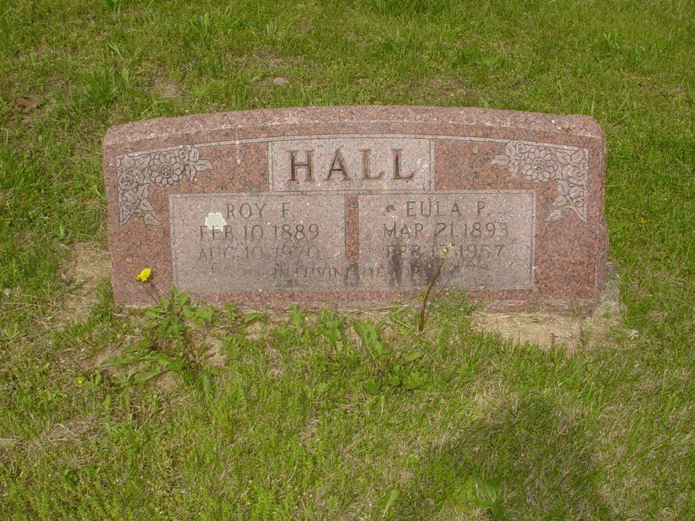 Roy Hall and Eula Martin Headstone Photo, White Cloud Presbyterian Church Cemetery, Callaway County genealogy