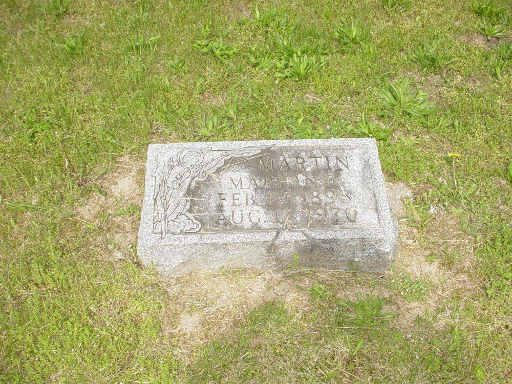 Marion E. Martin. Headstone Photo, White Cloud Presbyterian Church Cemetery, Callaway County genealogy