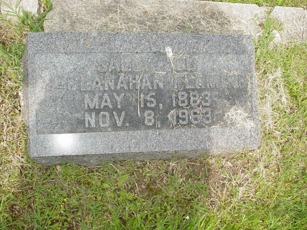 Sally McClanahan Fleming Headstone Photo, White Cloud Presbyterian Church Cemetery, Callaway County genealogy