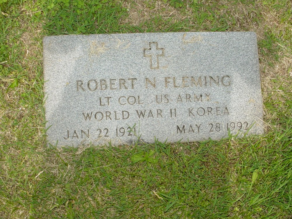 Robert N. Fleming Headstone Photo, White Cloud Presbyterian Church Cemetery, Callaway County genealogy