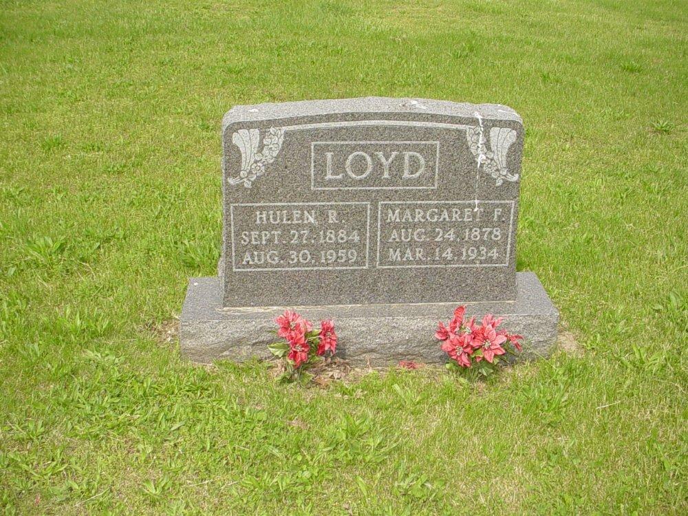 Hulen Loyd and Margaret McIntosh Headstone Photo, White Cloud Presbyterian Church Cemetery, Callaway County genealogy