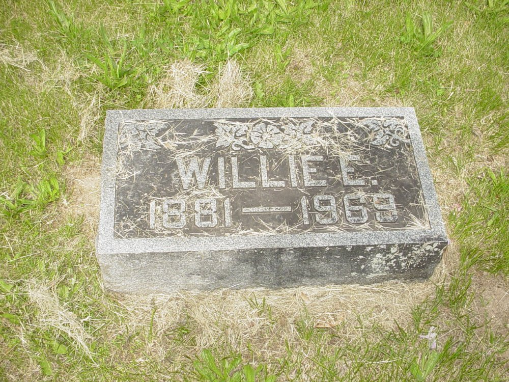 Willie E. Newland Headstone Photo, White Cloud Presbyterian Church Cemetery, Callaway County genealogy