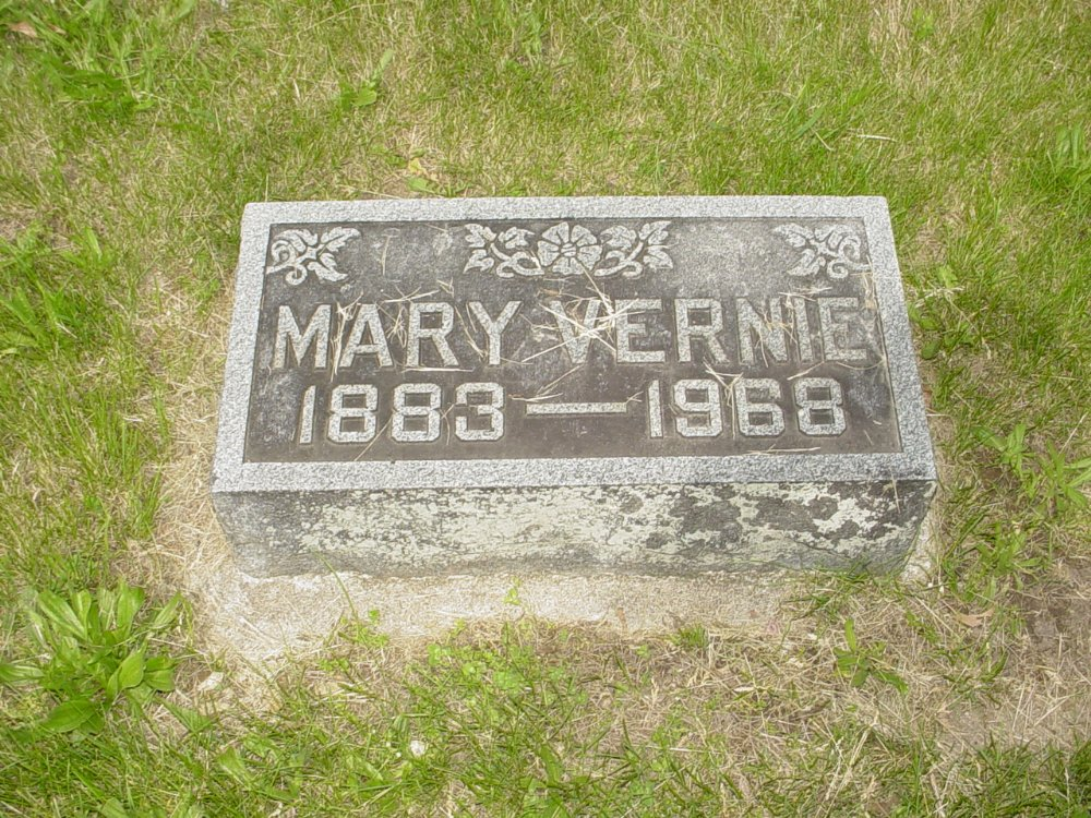 Mary Vernie Newland Headstone Photo, White Cloud Presbyterian Church Cemetery, Callaway County genealogy