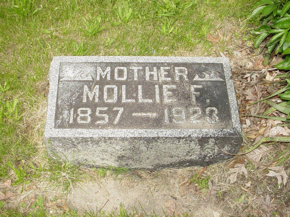Mollie Petty Newland Headstone Photo, White Cloud Presbyterian Church Cemetery, Callaway County genealogy