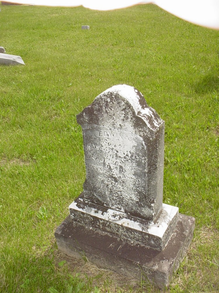 Edwin H. West Headstone Photo, White Cloud Presbyterian Church Cemetery, Callaway County genealogy