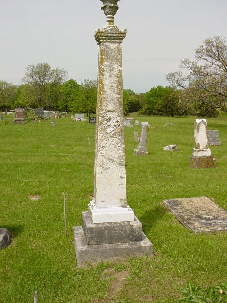Mary E. West Hook Headstone Photo, White Cloud Presbyterian Church Cemetery, Callaway County genealogy