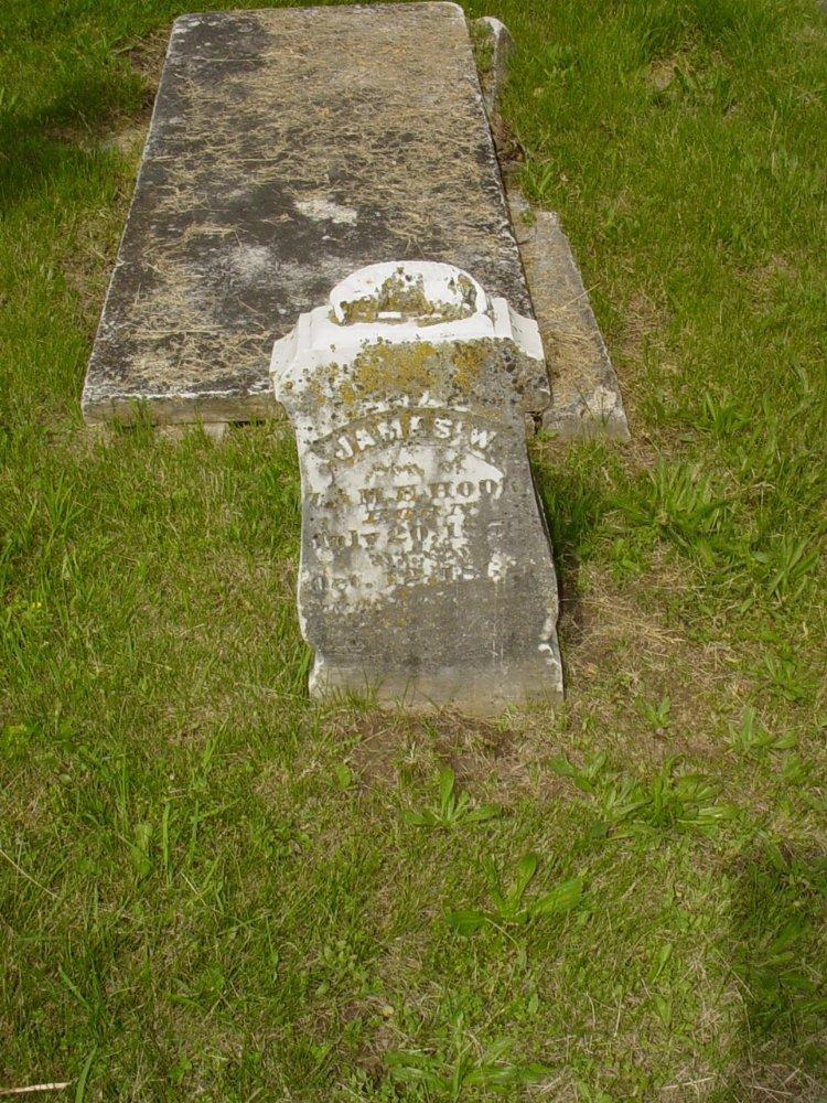 James W. Hook Headstone Photo, White Cloud Presbyterian Church Cemetery, Callaway County genealogy