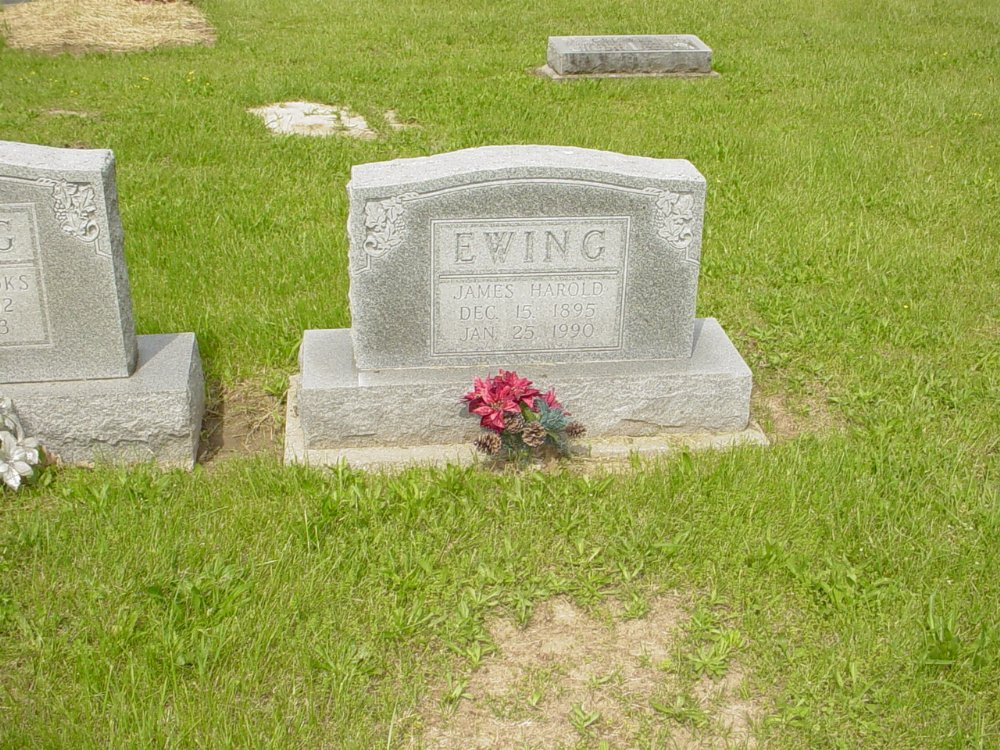 James Harold Ewing Headstone Photo, White Cloud Presbyterian Church Cemetery, Callaway County genealogy