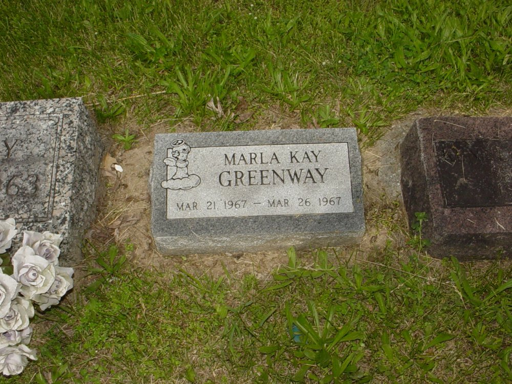 Marla Kay Greenway Headstone Photo, White Cloud Presbyterian Church Cemetery, Callaway County genealogy