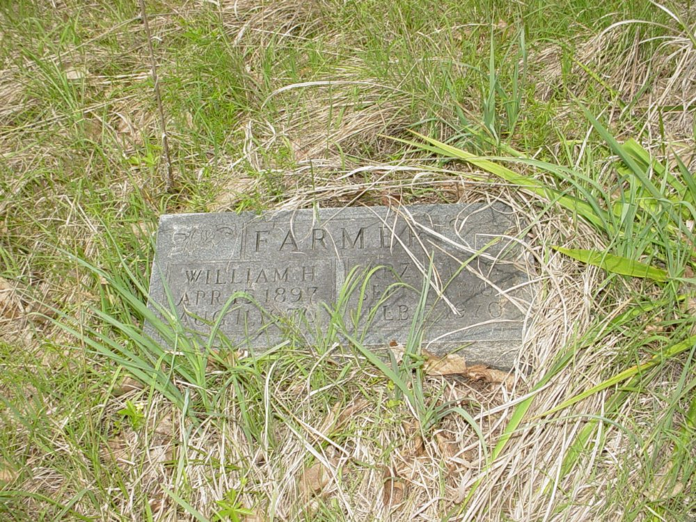 William and Arz Farmer Headstone Photo, White Cloud Presbyterian Church Cemetery, Callaway County genealogy